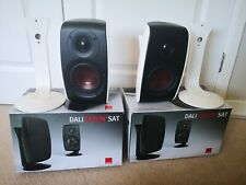 2x White Dali Fazon Sat Speakers includes stands + wall brackets Satellite