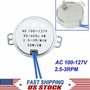 TYC-50 2.5-3RPM Synchronous Synchron Motor AC110V CW/CCW 4W Torque 12KGF.CM USA