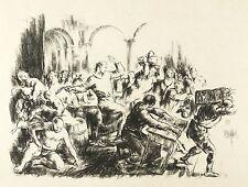 Robert Engels-exorcizarla procedentes del templo-litografía 1923