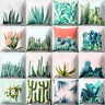 ITS- Tropical Cactus Plants Pillow Case Throw Soft Cushion Cover Home Decor Eyef