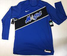 Nike Orlando Magic Dri Fit Long Sleeve Dri Fit Performance Shirt Sz XL TALL XLT