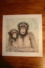 A Look Inside Jan Bain Signed & Numbered Limited Collectors Edition Chimpanzee