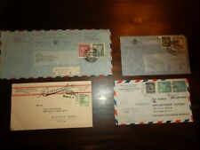 4 Chile Covers - Advertising Certified Remington Stamp Combos Air Mail