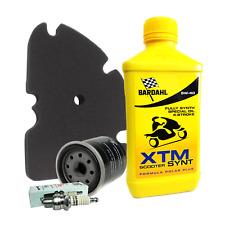 Kit tagliando Bardahl XTM 5W40 filtro olio aria originale candela Vespa GTS GTV