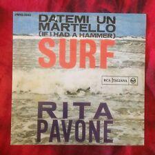 """RITA PAVONE SURF Quei Favolosi Anni 60 promo 7"""" 45 giri vinyl"""