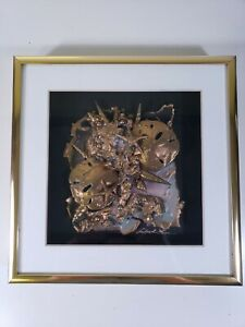 ALFRED LEE ORIGINAL PAPER AND SHELL SCULPTURE Framed & Signed Nautical Ocean 788