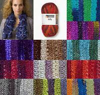Schachenmayr SMC Ruffle Ribbon Frilly Wool / sparkle Knitting Scarf Yarn