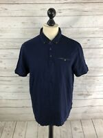 TED BAKER Polo Shirt - Size 6 XXL - Navy - Great Condition - Men's