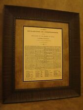 Texas Declaration of Independence Framed in Rustic Brown Frame