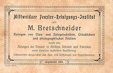 AK Werbekarte Mittweidaer Fenster-Reiniguns-Institut von M. Bretschneider Reklam