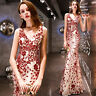 NEW Evening Formal Party Ball Gown Prom Bridesmaid Fishtail Sequins Dress YSGZ94