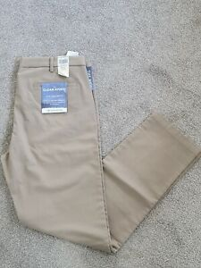 DOCKERS Levis Slim Tapered Fit Flat Front Trousers Pants with stretch W38 L34