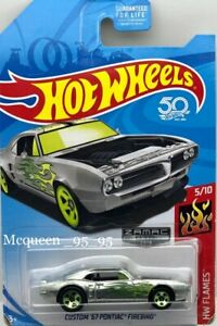 HOT WHEELS 2018 CUSTOM '67 POTIAC FIREBIRD  ZAMAC HW FLAMES