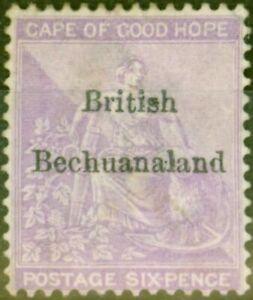 Bechuanaland 1885 6d Reddish Purple SG7 Good Unused