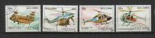Vietnam 1988 Hélicoptères série de 4 timbres oblitérés /TR8432