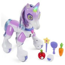Zoomer Purple Enchanted Unicorn Horse 5+ Toy Girls Boys Play Little Pony Brush