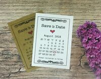 Both Side Save the Date Cards Tags Craft Vintage Rustic Wedding Pencil us in D74