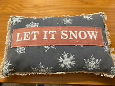 Kathys Primitives Let It Snow Throw Pillow
