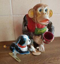 Cragstan Crap Shooting Monkey And Tin Dog With Bobbing Tail