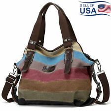 CHARLEENA Hot Canvas Bag Shoulder Bag Tote Purse Messenger Satchel Women Handbag