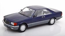 Mercedes 560 SEC (C126) 1985 blue metalic 1:18 kk scale news !! superb model