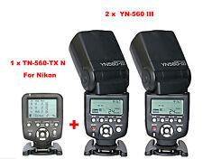 Yongnuo YN560-TX N Wireless Flash Controller for Nikon + 2 Pcs YN-560III Flash
