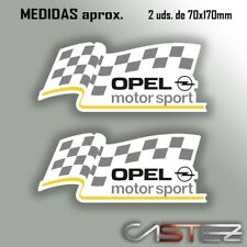 2 x vinilo adhesivo pegatina sticker opel motorsport tuning racing rally decal