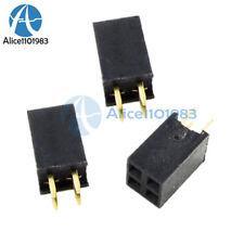 100PCS 2x2Pin 4P 2.54mm Double Row Female Straight Header Pitch Socket Pin Strip
