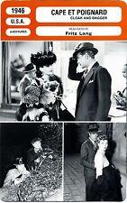 Fiche Cinéma. Movie Card. Cape et poignard / Cloak and dagger (USA) 1946