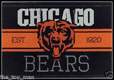 CHICAGO BEARS FOOTBALL NFL LICENSED VINTAGE TEAM LOGO INDOOR DECAL STICKER