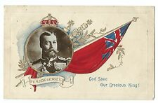 King George V on Embossed Patriotic Card RP by Davidson, Used