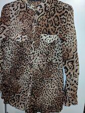 Zara Leopard Print Shirt Size XS