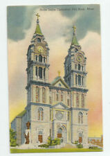 Notre Dame Cathedral Fall River Massachusetts Postcard MA Church Vintage Unused