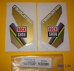 AUTHENTIC NOS ROCKSHOX REVELATION WORLD CUP FORK STICKERS DECAL / ROCK SHOX