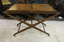 Baker Furniture Mid-Century Style Walnut Serving Cart by Cesare Lacca