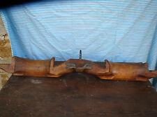 Ancien joug de boeufs  de chalet montagne art populaire Queyras laiton paysans