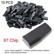 10pc Blank 4D67 ID67 Carbon Chip Car Key Transponder Chip Fit for Toyota COROLLA