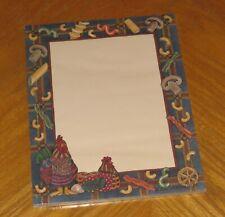 Sherri Buck Baldwin Art Chickens & Pasta 1995 Lang Main Street Press Letter Pad