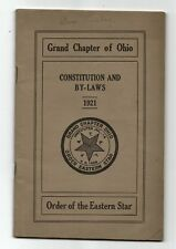 1921 Order Of The Eastern Star Grand Chapter Of Ohio Constition And Bylaws