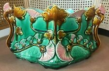 Beatiuful RaRe Antique French Majolica Jardiniere Planter Plant Pot