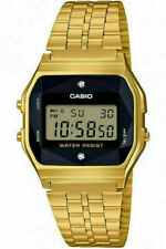 Casio A159WGED-1 Gold Tone Vintage Unisex Digital Watch