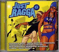 Music CD Reggae Dancehall Just Ragga Volume 6 Various Artist Album DJ