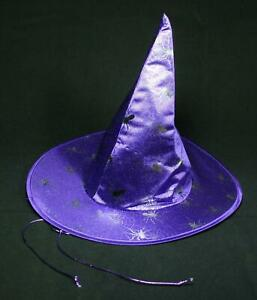 Girls Pony Express Purple Spider Witch Hat One Size Fits Most