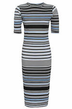 Polyester Party Striped Dresses for Women