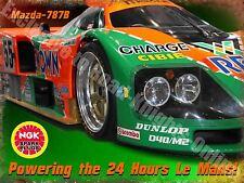 Motor Racing Classic Mazda-787B Le Mans Garage Race Car 30 Medium Metal/Tin Sign