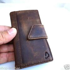 genuine vintage leather case for iphone 4s 4 book wallet magnet cover brown thin