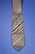 Original Kravatte 70er, diolen BC, 100%Polyester, Vintage Tie grau