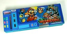 Vintage Super Mario Bros multifunction plastic magnetic pencil case, unused