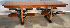 8' Industrial Table, Swing Out Seats, General / Country store, Kitchen Island