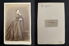 Lozano, Paris, Eugénie impératrice CDV vintage albumen print. Tirage a